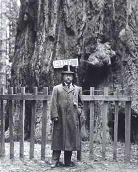 """If not for this this ridiculous coat and hat forced upon me by propriety, I'd proceed to climb this tree and upon achieving the top, yell out 'Bully'! Just because I can!"". Teddy Roosevelt, the first manly-man."